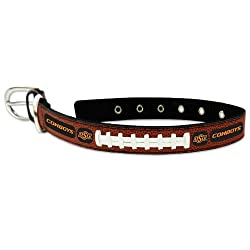 NCAA Oklahoma State Cowboys Classic Leather Football Collar, Large