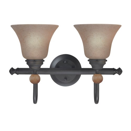 westinghouse-64088-symphony-hall-two-light-upward-wall-sconce-distressed-black-with-speckled-bronze-