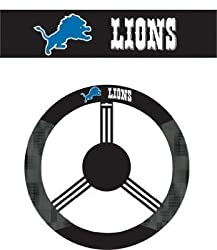 Detroit Lions Poly-Suede Steering Wheel Cover - NFL