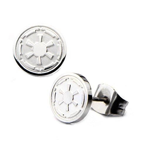 Star Wars Imperial Crest Logo Stainless Steel Stud Earrings