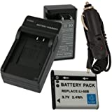 Battery+Charger for Olympus Stylus Tough 6020 8000 8010