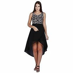 Jaune Wild Edition Animal Printed Hi-Lo Dress