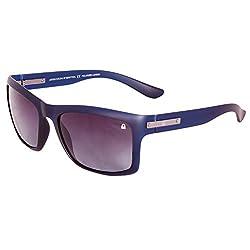 UCB Matt Black Green Gradient Wayfarer men Sunglasses with Polarized & 100% UV Protection (BS535 I3)