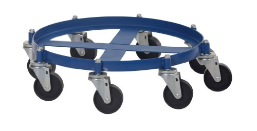 Vestil OCTO-55 Octo Drum Dolly with Cast Iron Casters, 2000 lbs Capacity