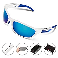 RIVBOS® Polarized Sports Sunglasses Driving Glasses for Men Women Tr90 Unbreakable Frame for Cycling Baseball Running Rb831 by RIVBOS