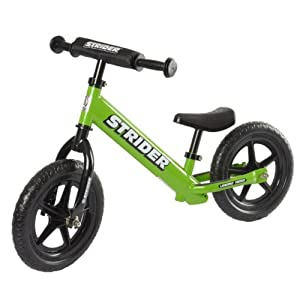 Strider No Pedal Balance Bike - Green