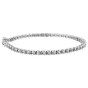 Diamond Tennis Bracelet 1.0 Carat (ctw) in Sterling Silver
