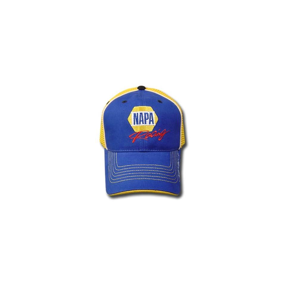 c44c3e7e73d MICHAEL WALTRIP  55 NAPA BLUE YELLOW CAP HAT NASCAR ADJ on PopScreen