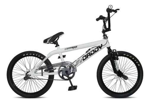 Rooster Big Daddy Boys BMX Bike With Spoked Wheel - White, 56.5 Inch