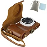 No.2 Warehouse PU Leather Camera case Bag for Samsung Galaxy GC100 EK-GC100 GC110(Brown)+ a Piece of Clean Cloth