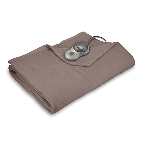 Sunbeam Quilted Fleece Heated Blanket, King, Mushroom, BSF9GKS-R772-13A00 (King Electric Blanket Sunbeam compare prices)