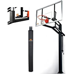 Goalrilla GLR GSI 72 Basketball System with Pole Pad and Universal Backboard Pad by Goalrilla