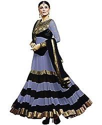 Shree Khodal Women's Grey Georgette Dress Material [SK_JCN1030C_D]