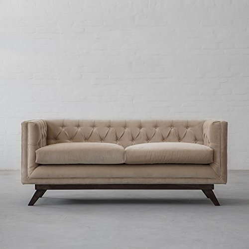 Bombay Sofa Collection (3 Seater) Jodhpur Cotton Velvet Sand