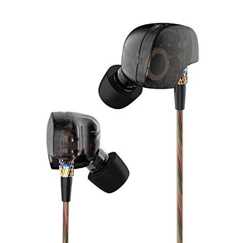 Audiosharp 高音質 カナル型 イヤホン 銅製ドライバーユニット 遮音 ヘッドフォン ブラック AS1318