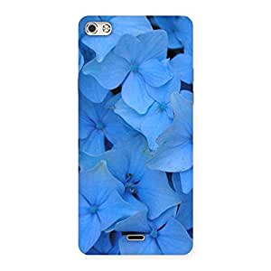 Blue Bush Flower Back Case Cover for Micromax Canvas Silver 5