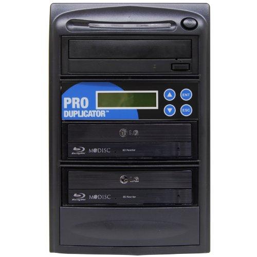 Produplicator 1 to 2 Blu-ray BD BDXL M-Disc CD DVD Duplicator (with Nero Essentials CD/DVD Burning Software) Copier Tower Replication Recorder Burner