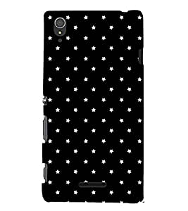 printtech Star Pattern Back Case Cover for Sony Xperia T3