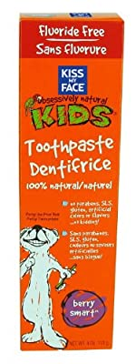 Kiss My Face Kids Berry Smart Fluoride Free Toothpaste, 4 Ounce Tubes