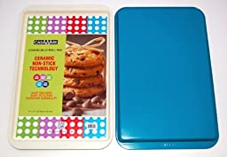 CasaWare Ceramic Coated NonStick Cookie/Jelly Roll Pan 11''x17'', Cream/Blue