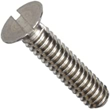 303 Stainless Steel Machine Screw, Metric, Flat Head, Slotted Drive, Plain Finish, Meets NAS Specifications, Right Hand Threads, Made In US