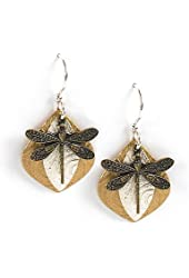 Jody Coyote Earrings QG009 Solistice Collection gold silver dragonfly dragon fly