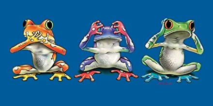 Funny Frogs Terry Velour Beach Bath Towel