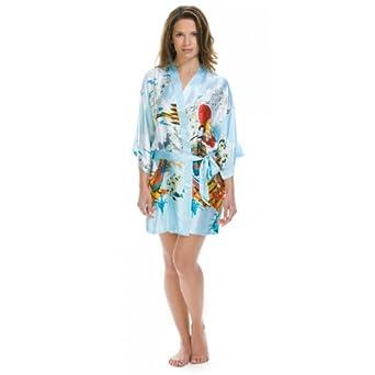 Lovekimono Yoko kimono robe de chambre femme en soyeux satin