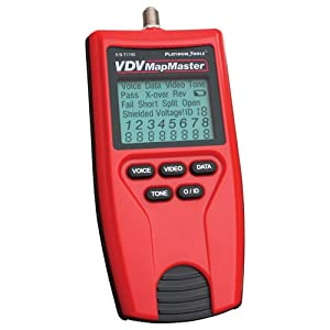 Platinum Tools VDV MapMaster Voice Data and Video Tester T119C