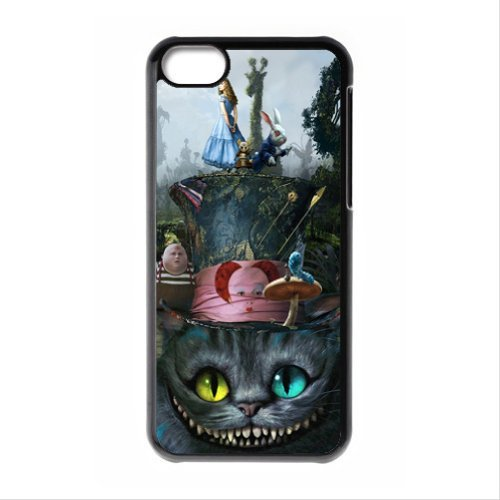 [Alice in Wonderland the Cheshire Cat Always Grin Especial Durable Hard Plastic Case Cover Fits Apple Iphone 5C Design Yedda] (Cat Costume Ideas Adults)