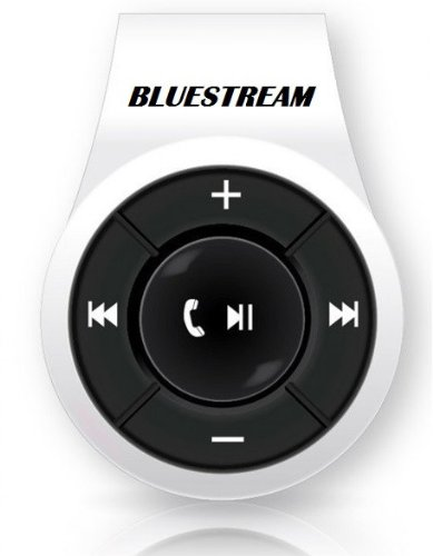 Bluestream Clip - Bluetooth Headset - White Color - Noise Suppresion - Music Receiver - Hands Free Talking