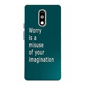Make My Print Inspirational Slogan Printed Soft Back Cover For Motorola Moto G4 Plus