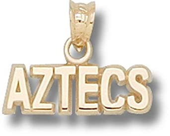 San Diego State Aztecs Aztecs Pendant - 14KT Gold Jewelry by Logo Art