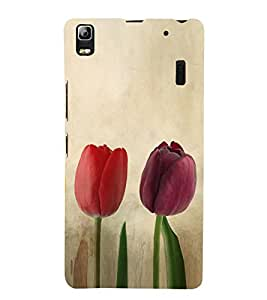 Colourful Tulips 3D Hard Polycarbonate Designer Back Case Cover for Lenovo K3 Note :: Lenovo A7000 Turbo