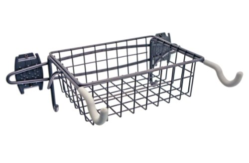 SCHULTE 7115-5040-50  Bike Rack and Basket, Granite Gray