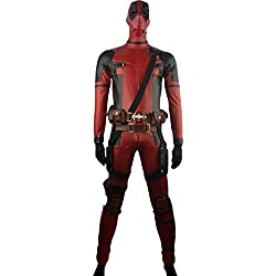 XYZcos Men's Deadpool Wade Wilson Deluxe Outfit Battleframe Costume Size L