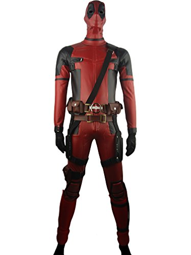 Men's Deadpool Wade Wilson Deluxe Outfit Battleframe Costume