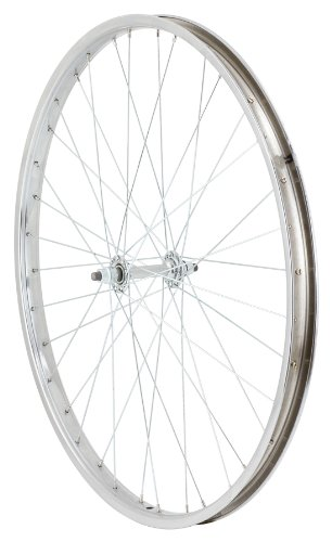 Avenir Cruiser 36H Nutted Front Wheel (Silver, 26 x 1.75-Inch)