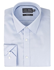 Performance Pure Cotton Non-Iron Slim Fit Twill Shirt