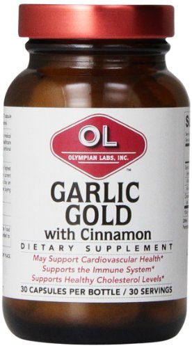 Olympian Lab Garlic-Gold With Cinnamon Capsules, 30 Count