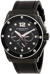 Stuhrling Original Men's 469.33551 Special Reserve Apocalypse Midnight Quartz Black Leather Strap Watch