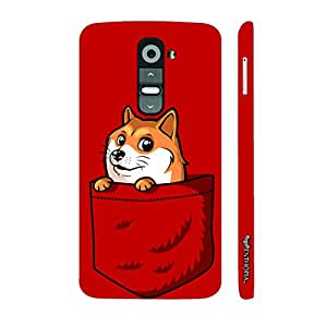 LG G2 Fox in the Pocket designer mobile hard shell case by Enthopia