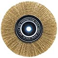 Vermont American 16796 3-Inch Fine Brass Wire Wheel Brush with 1/4-Inch Hex Shank for Drill