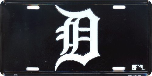 "LP - 1023 Detroit Tigers ""D"" Logo Emblem License Plate - 2688 by Smart Blonde"