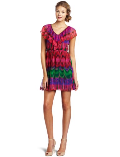 Trina Turk Women's Evita Ikat Print Dress, Multi, 4