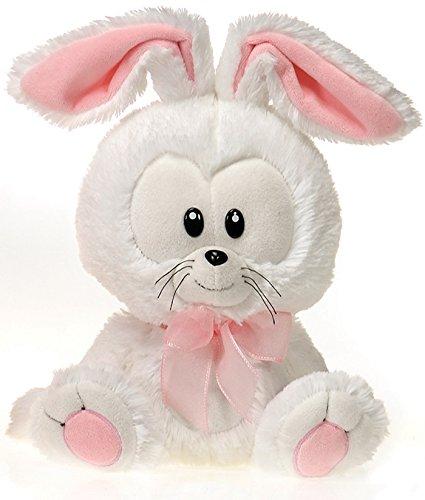 "Fiesta Big Head Easter Bunny - White 11"" - 1"