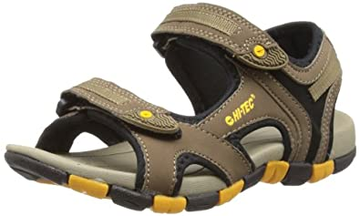 Hi-Tec Gt Strap Jr, Unisex-Child Sandals, Smokey Brown/Taupe/Gold, 1 UK