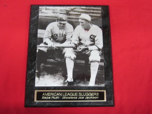 Babe Ruth Shoeless Joe Jackson Collector Plaque w/8x10 VINTAGE Photo at Amazon.com