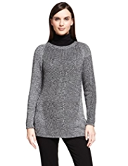 Autograph Metallic Effect Knitted Jumper