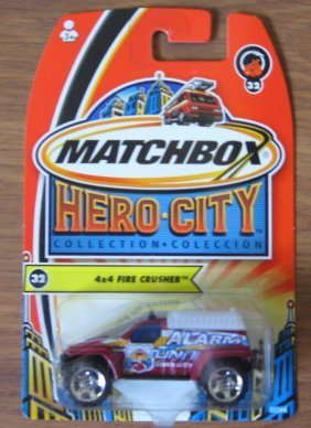 Matchbox Hero City 4x4 Fire Crusher 32 2003